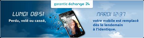 Service mobile: GARANTIE ÉCHANGE 24  13170510