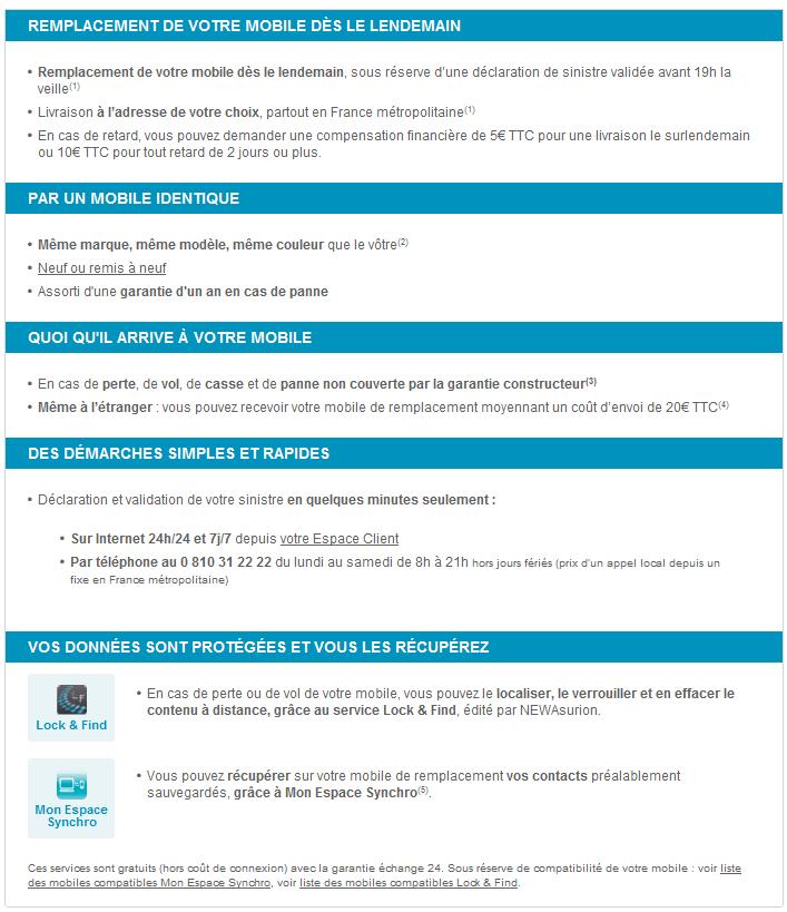 Service mobile: GARANTIE ÉCHANGE 24  Detail10