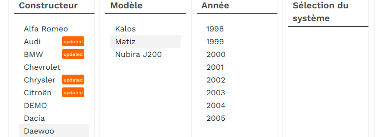 [ Daewoo Matiz 0.8 ess an 2000 ] Valise diagnostic  Matiz10