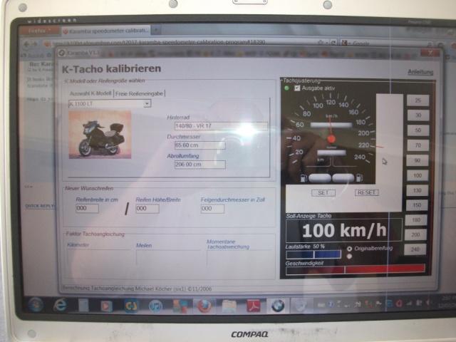Karamba speedometer calibration program Dscf2514