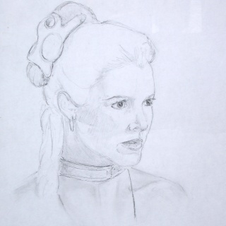 Aquarelles Star Wars Leia12