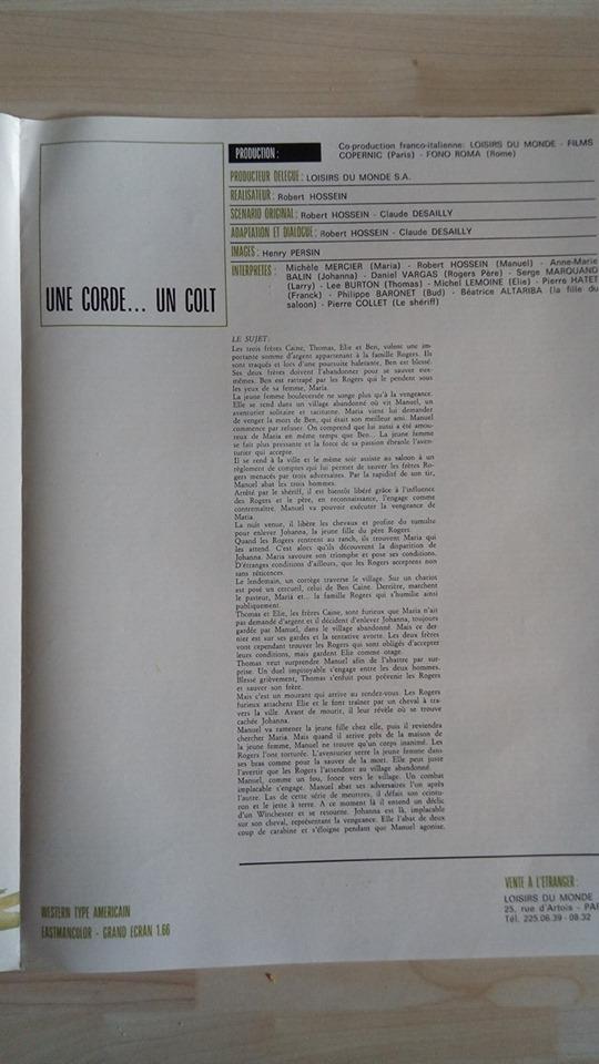 Une corde, un Colt... - 1969 - Robert Hossein - Page 3 Unecor13