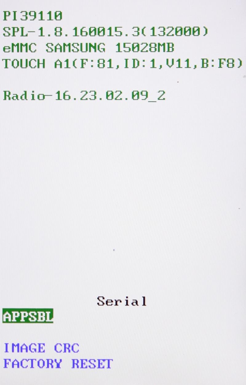 [TUTO] Entrer en mode Bootloader / Faire un Hard Reset - CRC Checksum / Restauration forcée sur les htc WP7 2nd gen (Titan / Radar) Img_0610