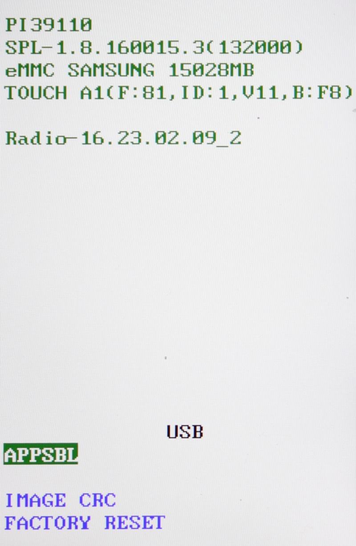 [TUTO] Entrer en mode Bootloader / Faire un Hard Reset - CRC Checksum / Restauration forcée sur les htc WP7 2nd gen (Titan / Radar) Img_0611