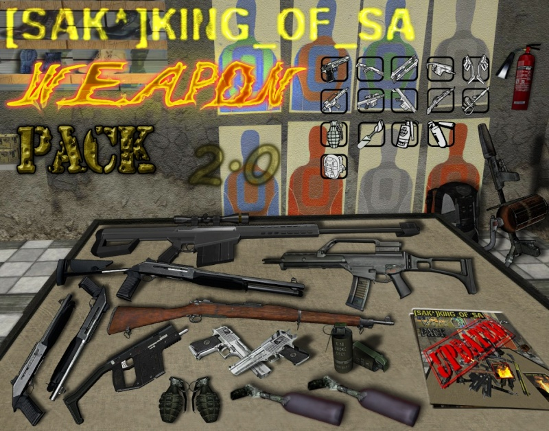 [Pack] King of SA's Weapon Pack 2.0 13369111