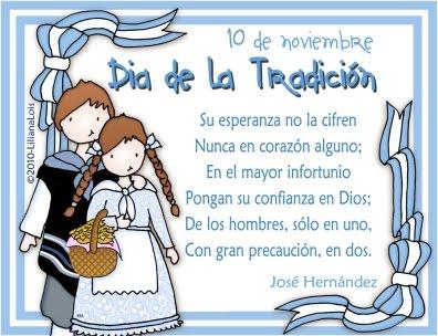 10 de  Noviembre: DIA DE LA TRADICION ARGENTINA Tradic10