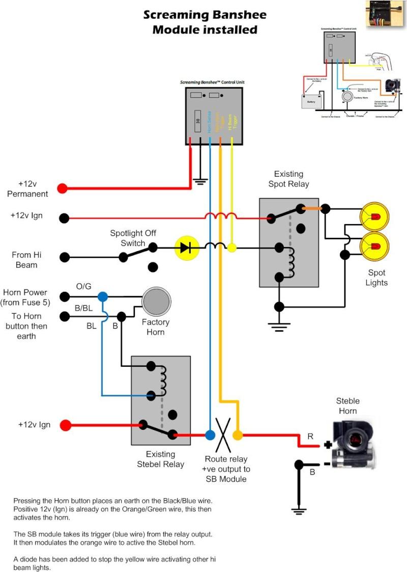Banshee Air Horn Wiring Diagram Air Horn Schematic Diagram Air