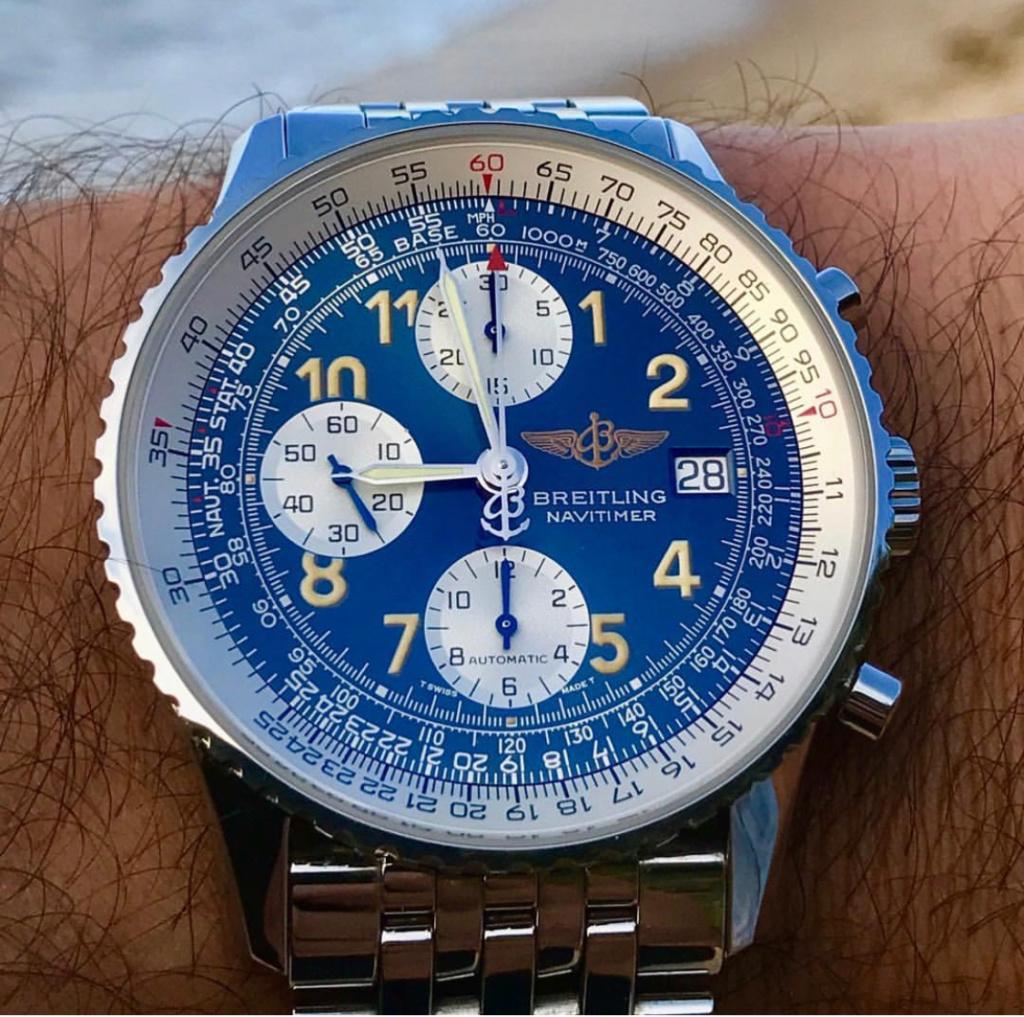 Breitling Navitimer A13022 cadran bleu  9082d610