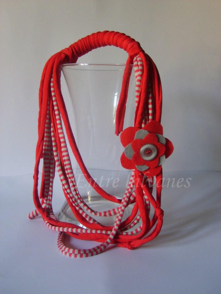 Collares de trapillo o trapilho Collar10