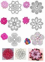 Patrones de flores de crochet F_croc10