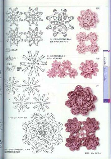 Patrones de flores de crochet Flores10