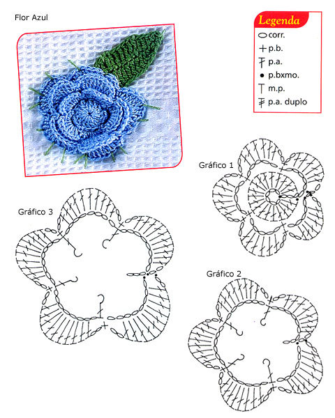 Patrones de flores de crochet Patron10