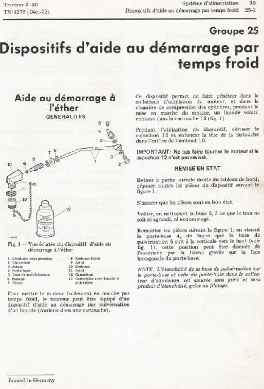 JD 410 Fluide d'aide au démarrage Numari14