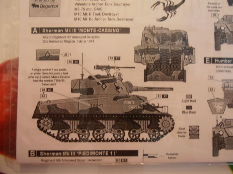 """Sherman MkIII """" Monte cassino """" la peinture. P7240610"""