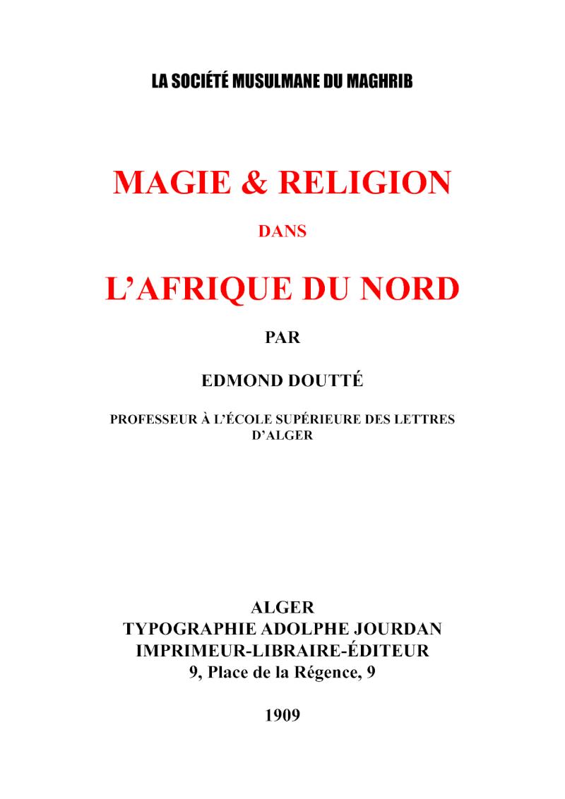 Islam, Soufisme, croyances et pratiques magiques... 19795711