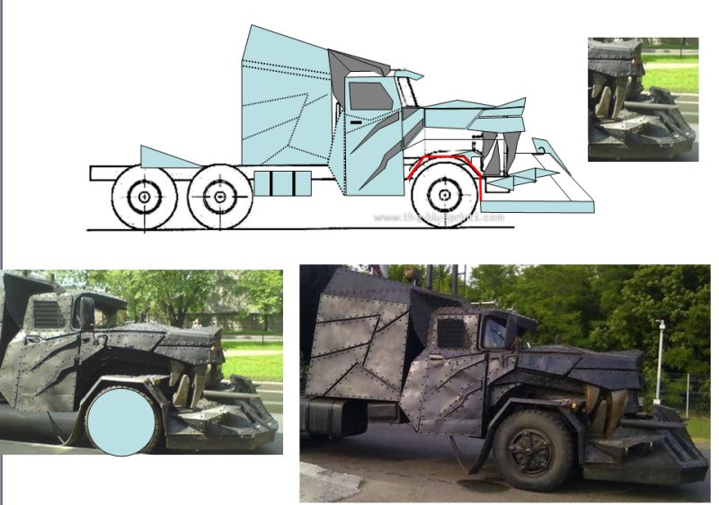 Wolf truck sur base de Diamond Reo AMT au 1/25 Profil10