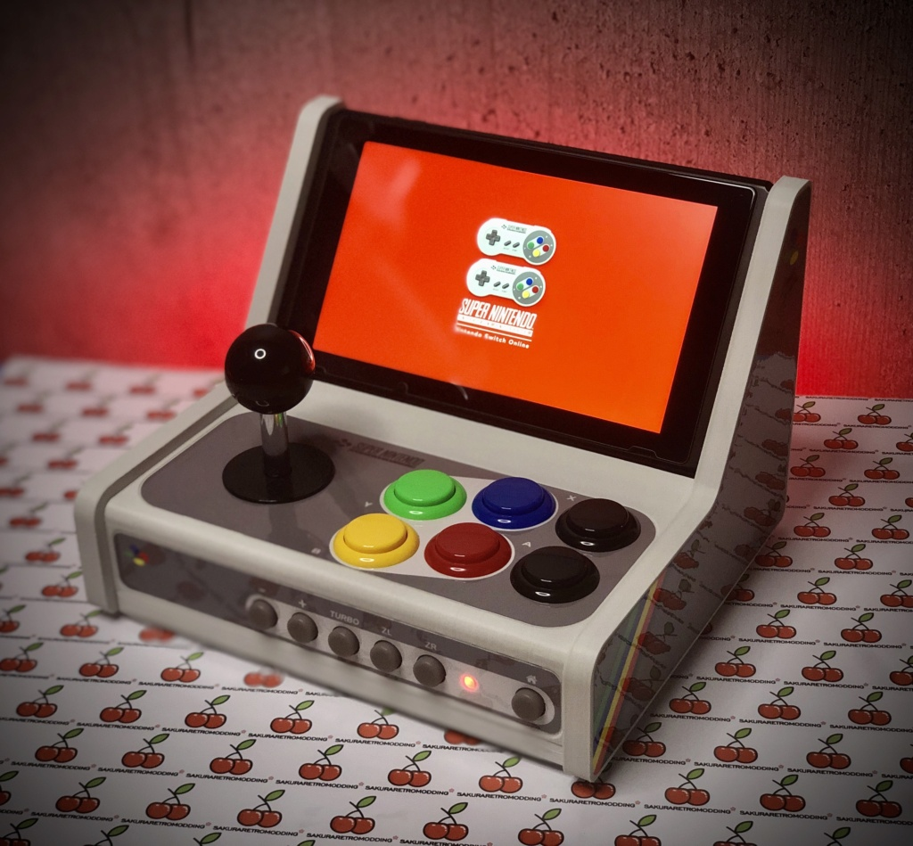 ArcadeSwitch mini Bartop Nintendo Switch full Sanwa 18c1b910
