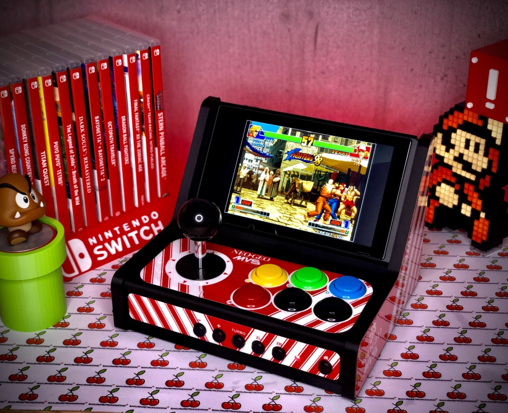 ArcadeSwitch mini Bartop Nintendo Switch full Sanwa 27c46810