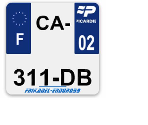 Astuce plaque d'immatriculation pas chère Pimat10
