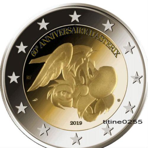 pièce commémorative 2€ 60 ans d'Astérix S-l50011