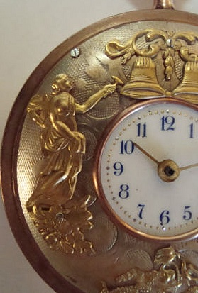 IMPORTANT GUIDE : how to recognise FAKE AUTOMATON POCKET WATCHES Coq_4_10