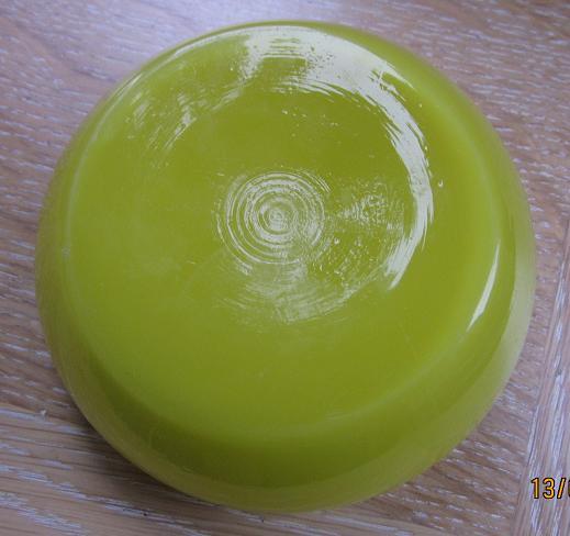 Yellow Glass lidded Bowl Img_0829