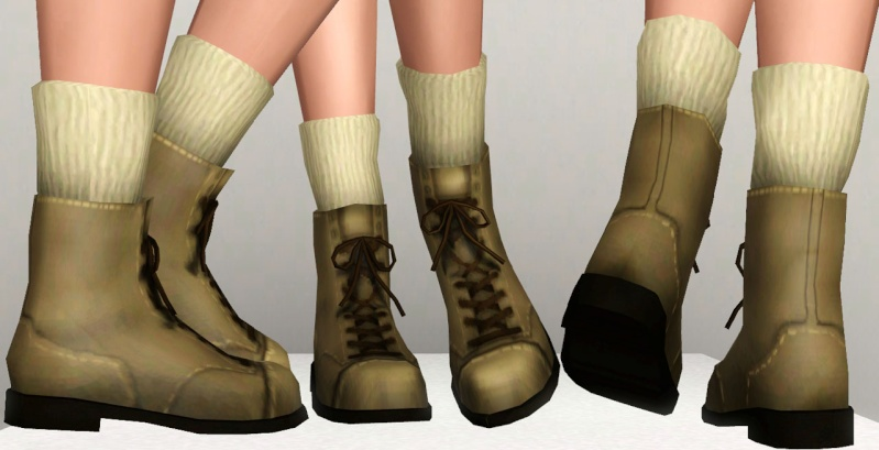 Boots With 3D Socks by Traelia Boots311