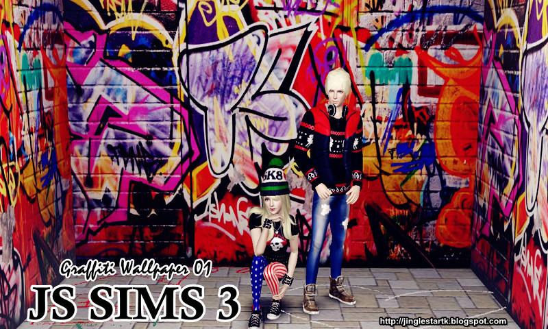 Graffiti Wallpaper by JS Sims 3 Graffi10