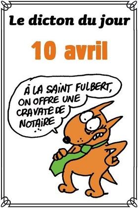 Le saint du jour Fulbert,Grégoire Le 10 avril 2019 Dicton15
