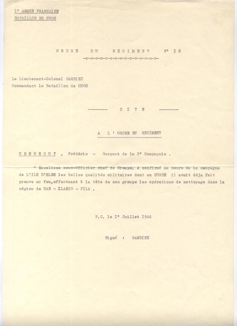 Photos et Docs BATAILLON DE CHOC (Crénéguy Frédéric) Citati11
