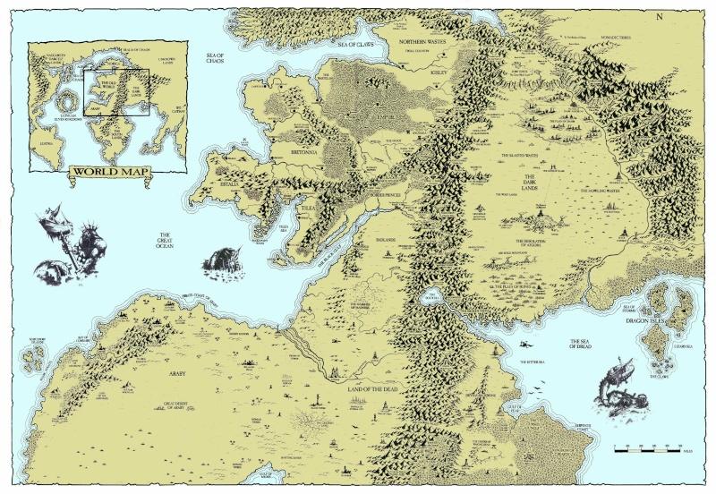 Carte du vieux Monde de Warhammer :  Carte_10