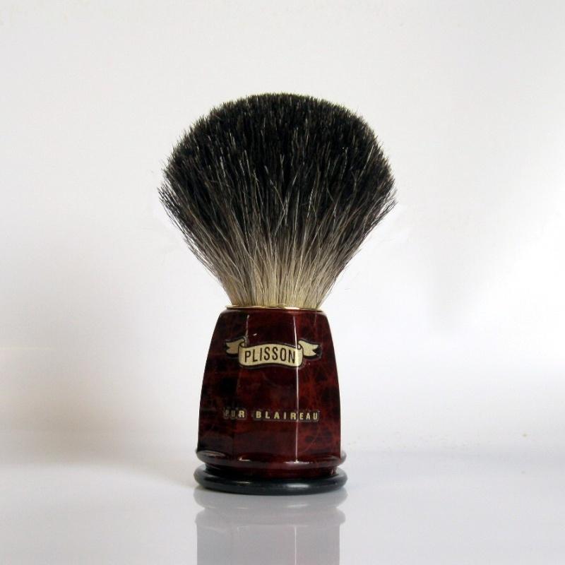 Plisson pur gris - Best badger - Noeud de 22mm Plisso11