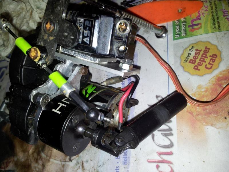 DIY Servo mount for Hot Racing Dig unit for SCX10 transmission 2012-011