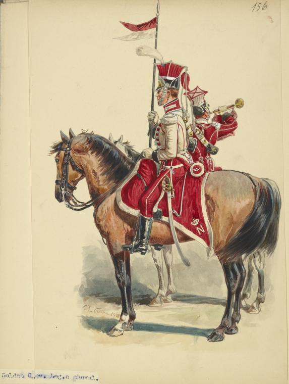 Timbalier des chevau-légers  de la garde napolitaine - plat 75mm Indexc10