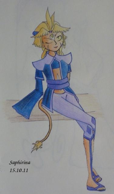 Saphirina a sorti ses crayons ! Akitte10