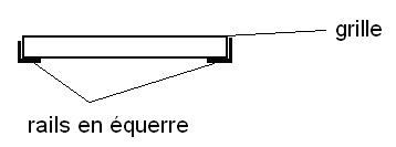 Matériau pour rail de guidage Grille11
