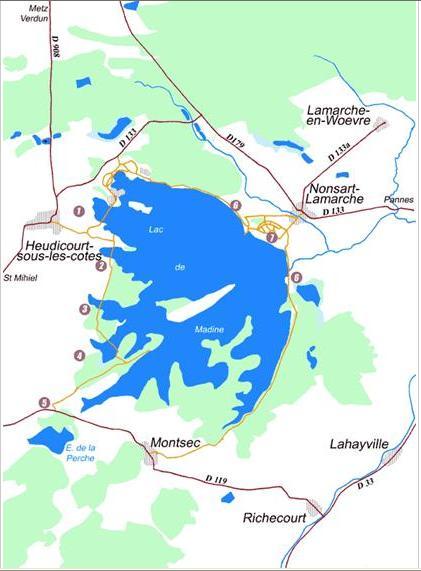 Lac de Madine – Grand lac public – La Meuse (55) Aa289