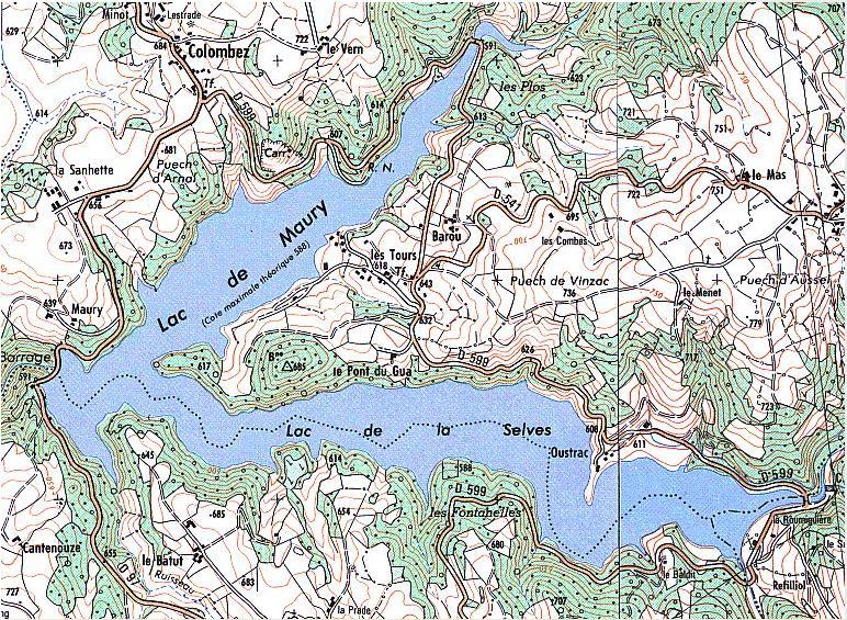 Lac de Maury – Grand lac public – L'Aveyron (12) Aa339