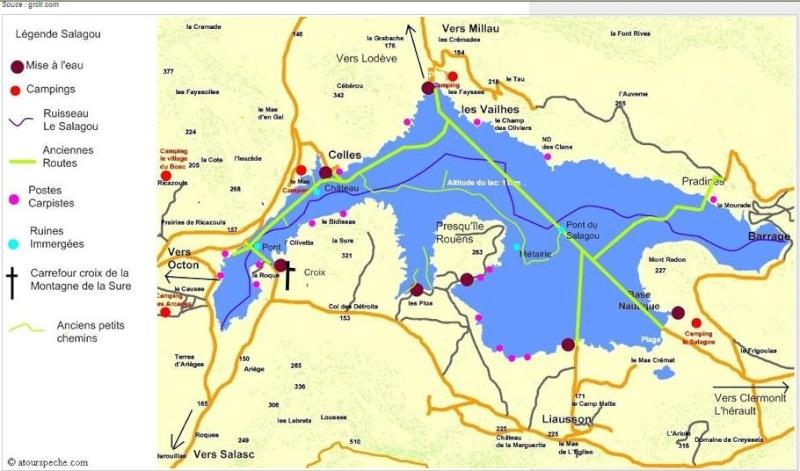 Lac du Salagou – Grand lac public – Hérault (34 Aa357