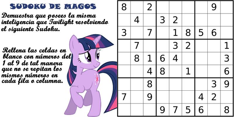 Pasatiempos de MLP: FiM Sudoku10