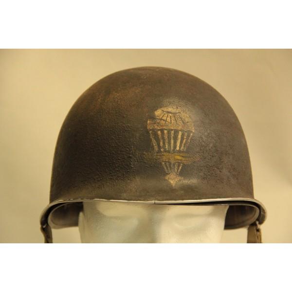 RARE CASQUE US M1 D'UN CAPITAINE DU 1er RCP 1944 2012_066