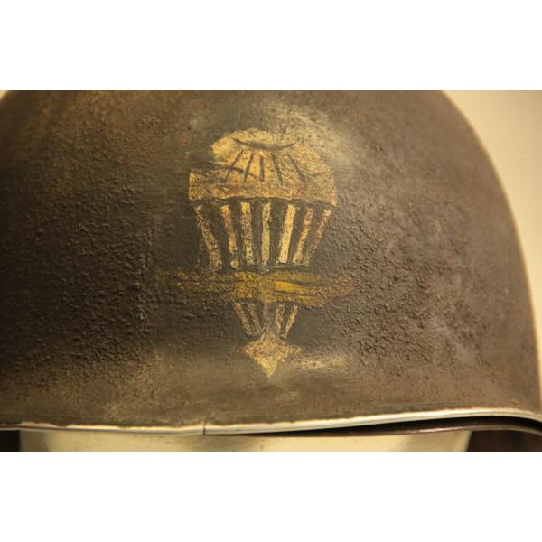 RARE CASQUE US M1 D'UN CAPITAINE DU 1er RCP 1944 2012_067