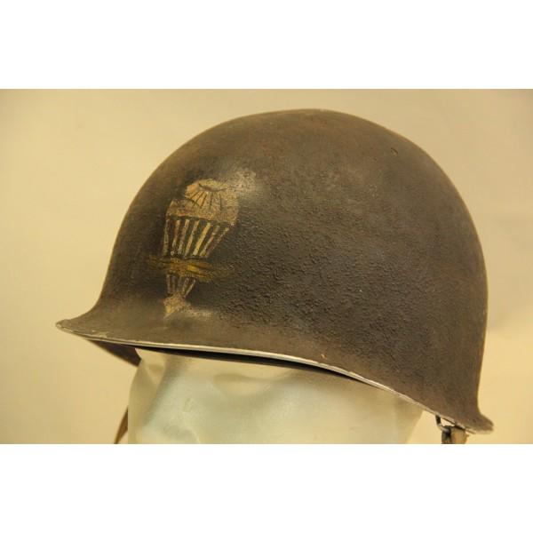 RARE CASQUE US M1 D'UN CAPITAINE DU 1er RCP 1944 2012_068