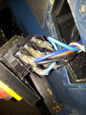 Branchement moteur / bouton marche/Arret sur scie sur table (Feider aujourd'hui feidwood) 2012-029