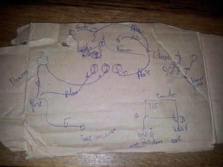 Branchement moteur / bouton marche/Arret sur scie sur table (Feider aujourd'hui feidwood) 2012-030