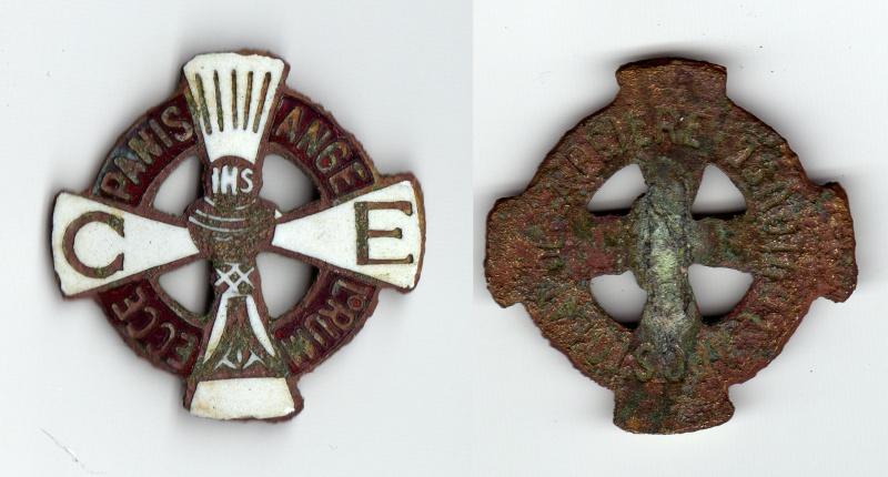 """Insigne religieux émaillé - """"IHS / CE"""" - """"Apostolat de la Prière Toulouse"""" - XXème 1010"""
