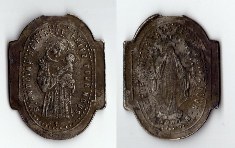 Médaille Miraculeuse de la rue du Bac - avers Marie / revers St-Antoine-de-Padoue - XXème 1110