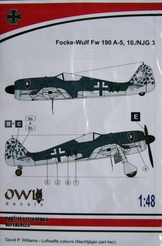 """FW 190 A-5 codé D5 + XV du 10/NJG-3 """"Nachtjagdkommando 190"""" (Eduard 1/48) 01_owl10"""