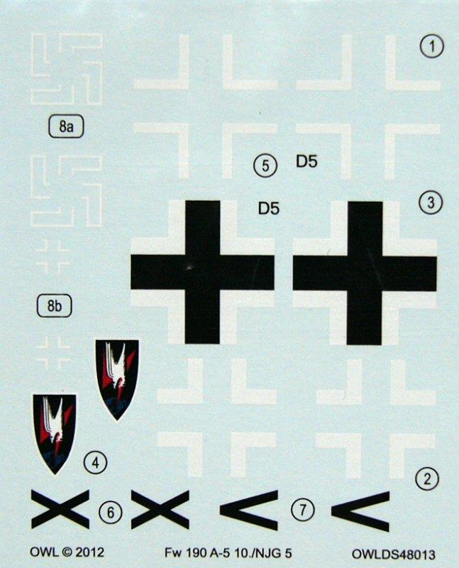 """FW 190 A-5 codé D5 + XV du 10/NJG-3 """"Nachtjagdkommando 190"""" (Eduard 1/48) 02_owl10"""