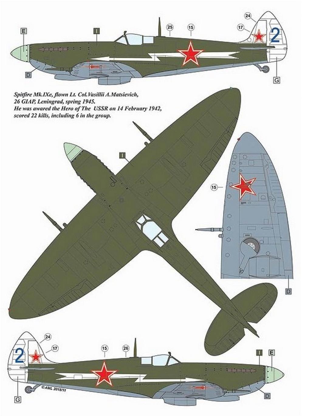 Spitfire LF-IXe with Soviet Pilot & Ground Crew 1/48 ( ICM 48803 ) 0432